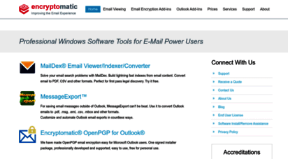 encryptomatic.com - encryptomatic email viewing software and outlook add-ons