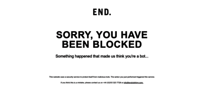 endclothing.com - end.  globally sourced menswear
