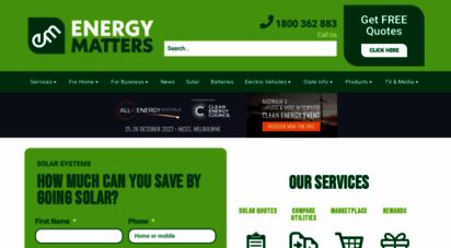 energymatters.com.au - energy matters  solar power quotes panels, energy batteries melbourne, sydney and australia wide