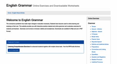 english-grammar.at - english grammar - online grammar and vocabulary exercises foe english language learners