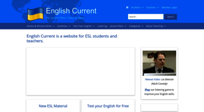 englishcurrent.com - english current is a free website for esl students and teachers.