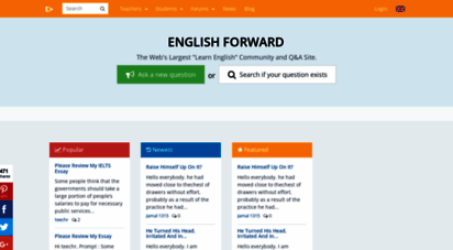englishforums.com - english forward the internet´s largest learn english community. now on blockchain