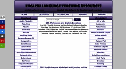 englishwsheets.com - esl printable worksheets and english exercises for kids