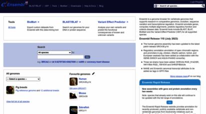 ensembl.org - ensembl genome browser 100
