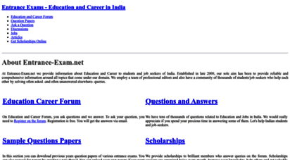 entrance-exam.net - entrance exams - education and career in india