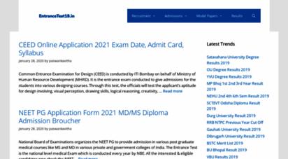 entrancetest19.in - entrancetest19.in - entrance exams 2019 notifications,test dates, prospectus