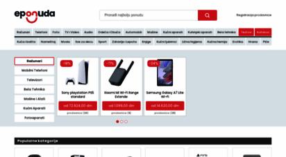 eponuda.com - uporedi cene srbija, katalog akcija lcd televizori, bela tehnika, laptop računari, mobilni telefoni cene, fotoaparati, automobili, mašine alati srbija