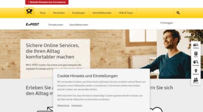 epost.de - e-post  deutsche post