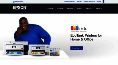 epson.ca - epson home page - epson printers, scanners, projectors, ink, paper and more - epson canada, limited.