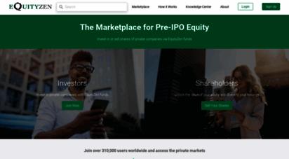 equityzen.com - equityzen: invest in or sell pre-ipo stock
