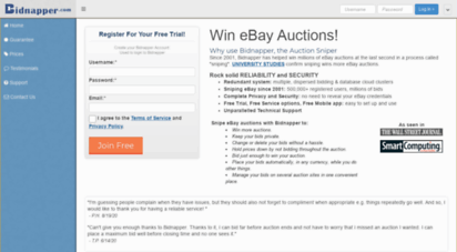 Welcome To Es Bidnapper Com Bidnapper Free Ebay Auction Sniper