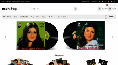 esenshop.com - esenshop  müzik, film, kitap ve plak mağazası