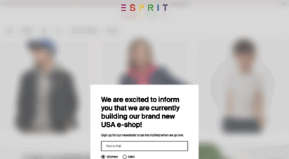 Welcome to Esprit Fashion for Women, Men & Kids
