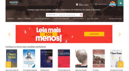 estantevirtual.com.br - estante virtual - livro novo é aquele que você ainda não leu