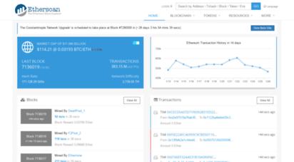 etherscan.io - ethereum eth blockchain explorer