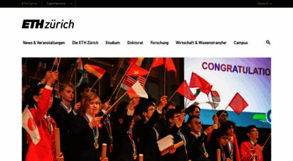 ethz.ch - eth zürich - homepage  eth zürich