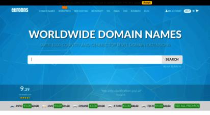 eurodns.com - domain name registrar & dns service provider  eurodns