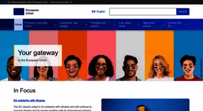 europa.eu - europa - european  website, the official eu website