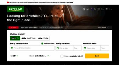 europcar.com.au - car rental - car hire & van hire  europcar australia