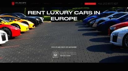 europeluxurycars.com - luxury car rental europe, italy, germany, france, switzerland