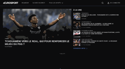 eurosport.fr - sport en direct match en direct - eurosport france