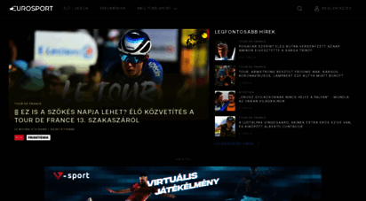 eurosport.hu - sporthírek, élő közvetítések és eredmények - eurosport