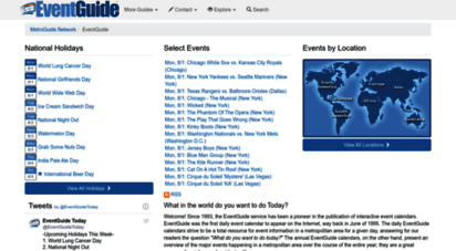 eventguide.com - find events with the eventguide.networksm