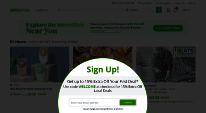 Groupon® Official Site | Online Shopping Deals and Coupons
