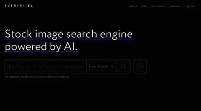 everypixel.com - stock image search engine - more than 50 best sources  everypixel
