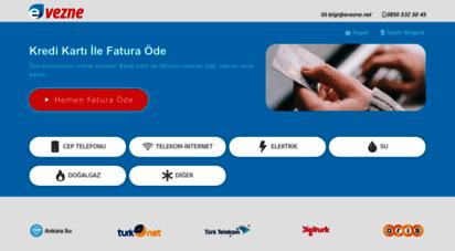 evezne.net - 7/24 kredi kartı ile fatura öde