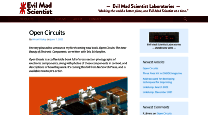evilmadscientist.com - evil mad scientist laboratories  making the world a better place, one evil mad scientist at a time.