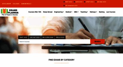 examsplanner.in - engineering entrance exams, sarkari result, vacancies 2020
