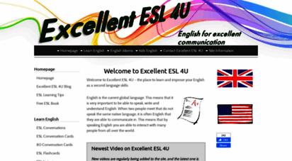 excellentesl4u.com - welcome to excellent esl 4u