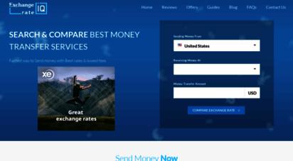 exchangerateiq.com - compare best money transfer services  send money now