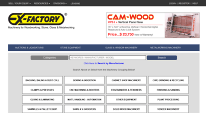 exfactory.com - ex-factory woodworking machinery - used, new