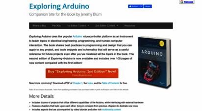 exploringarduino.com - exploring arduino  companion site for the book by jeremy blum