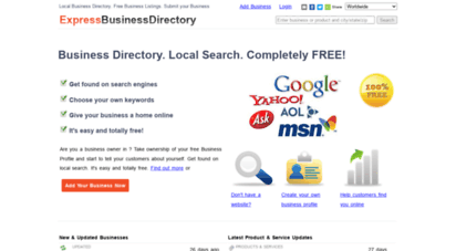 expressbusinessdirectory.com - business directory, free business directory listings, local b2b search engine, advertising free, add business  expressbusinessdirectory.com