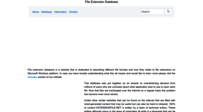 extensionfile.net - file extension database
