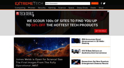 extremetech.com - extremetech - extremetech is the web´s top destination for news and anlysis of emerging science and technology trends, and important software, hardware, and gadgets.