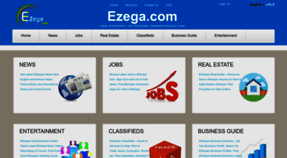 ezega.com - ethiopian news, entertainment, jobs, real estate, classifieds & business guide