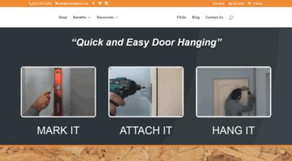ezhangdoor.com - ez-hang door  quick and easy door hanging