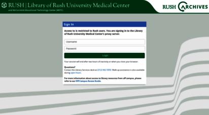 Welcome to Ezproxy rush edu - Library of Rush University Proxy Login