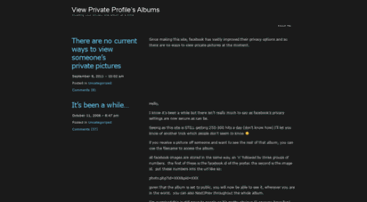 How To View Private Facebook Profile Photos Album how to