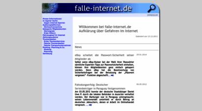 falle-internet.de - willkommen bei falle-internet.de aufklärung über gefahren im internet