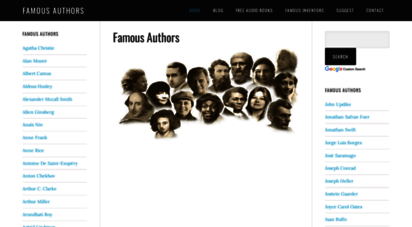famousauthors.org - famous authors  books and biographies of famous authors