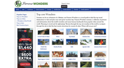 famouswonders.com - famous wonders of the world: best places to visit & see travel pictures