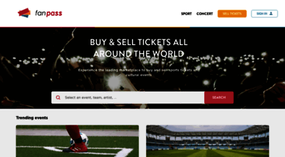 fanpass.co.uk - fanpass- buy and sell concert, sports and theater tickets online
