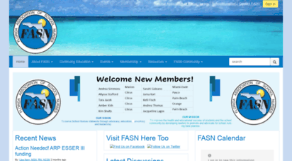 fasn.net - home - florida ssociation of school nurses