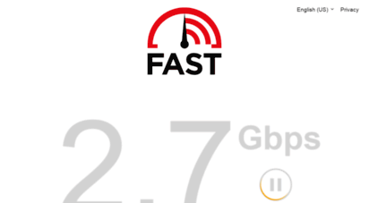 fast.com - internet speed test  fast.com
