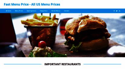 fastfoodmenuprice.com - menu prices - secret menu´s - nutrition  fastfoodmenuprice.com